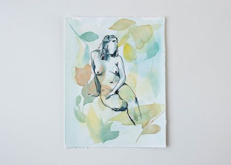 Breath of the glade original watercolor painting the Ninsar series