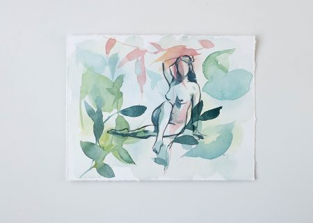 Florescence original watercolor painting the Ninsar series