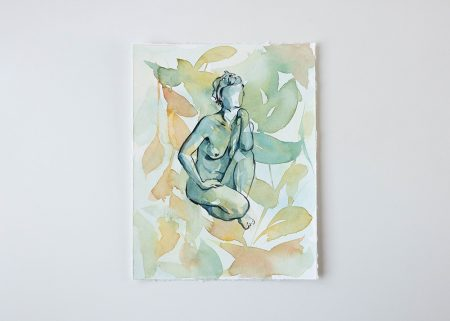 Liberté original watercolor paintings The ninsar series