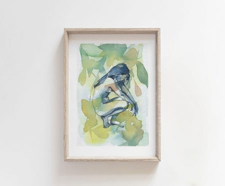 Sacred space giclee art print mother nature nude art