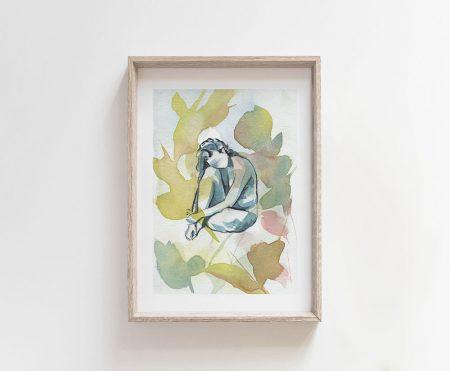 giclee art print mother nature goddess wall art decor