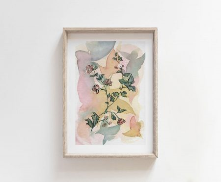 wild flowers painting for home decor
